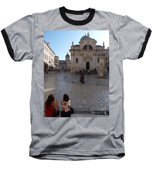 Baseball T-Shirt featuring the photograph Dubrovnik - Time To Relax by Phil Banks