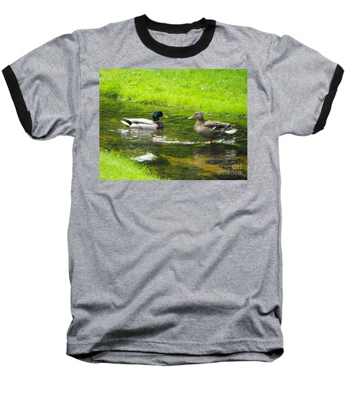 Duck Couple Baseball T-Shirt