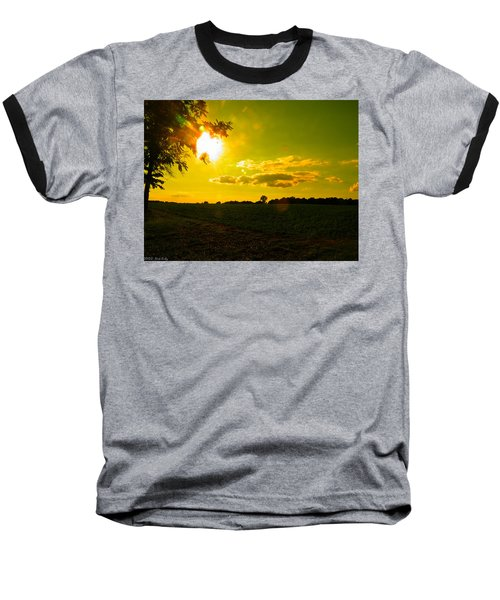 Duck Flying Low Cloud 2 Baseball T-Shirt