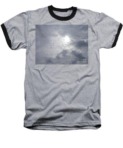 Duck In Beautiful Sky Baseball T-Shirt