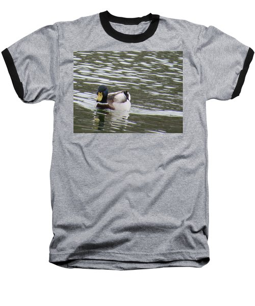 Duck Out For A Swim Baseball T-Shirt by Aaron Martens