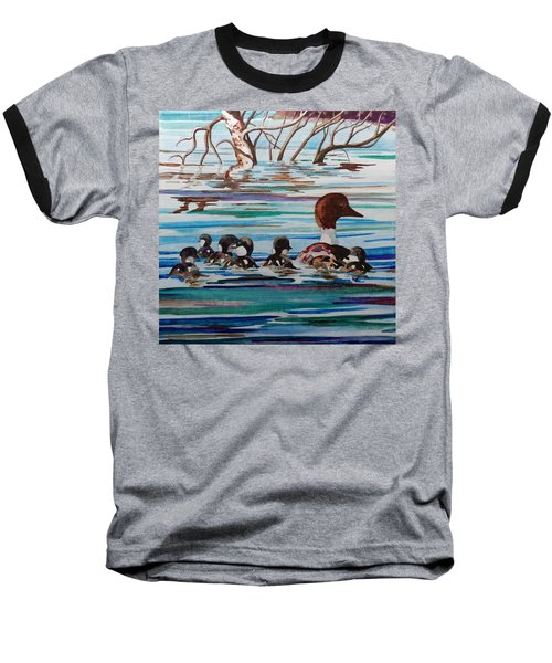 Ducks In A Row Baseball T-Shirt