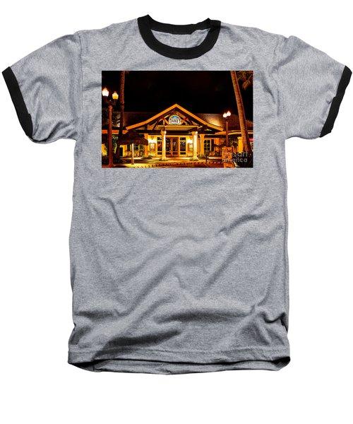 Duke's Restaurant Front - Huntington Beach Baseball T-Shirt by Jim Carrell
