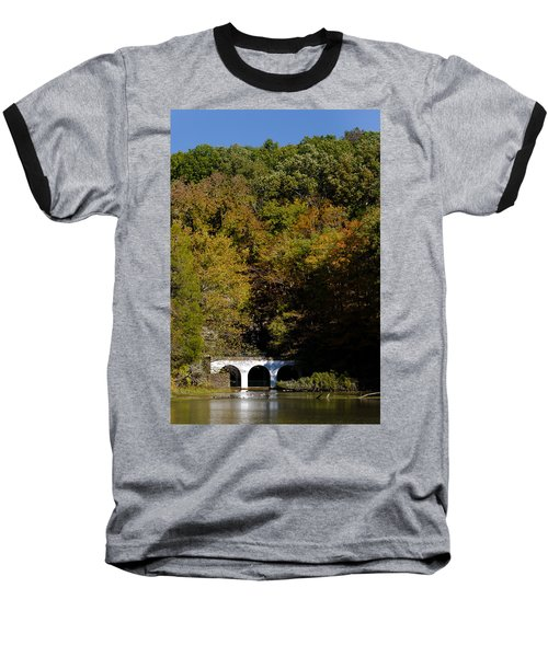 Dunbar Cave And Swan Lake Baseball T-Shirt