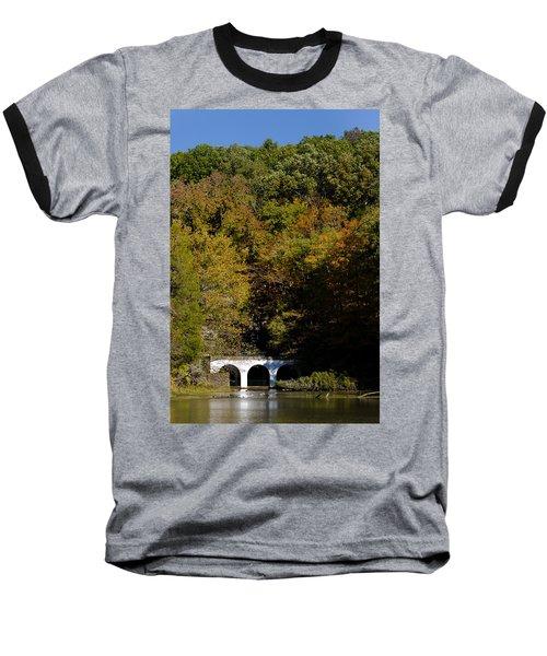 Dunbar Cave And Swan Lake Baseball T-Shirt