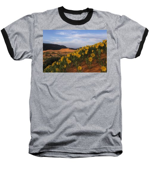 Dunes In Bloom Baseball T-Shirt