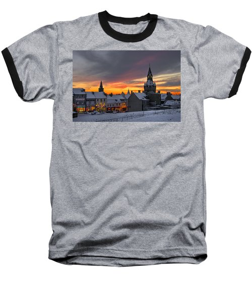 Dunfermline Winter Sunset Baseball T-Shirt