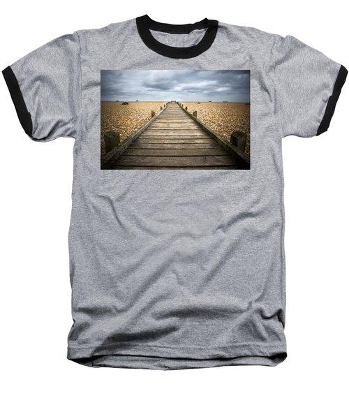Dungeness Beach Walkway Baseball T-Shirt