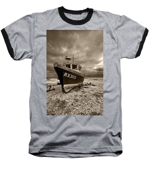 Dungeness Boat Under Stormy Skies Baseball T-Shirt