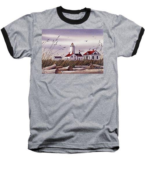Dungeness Lighthouse Baseball T-Shirt