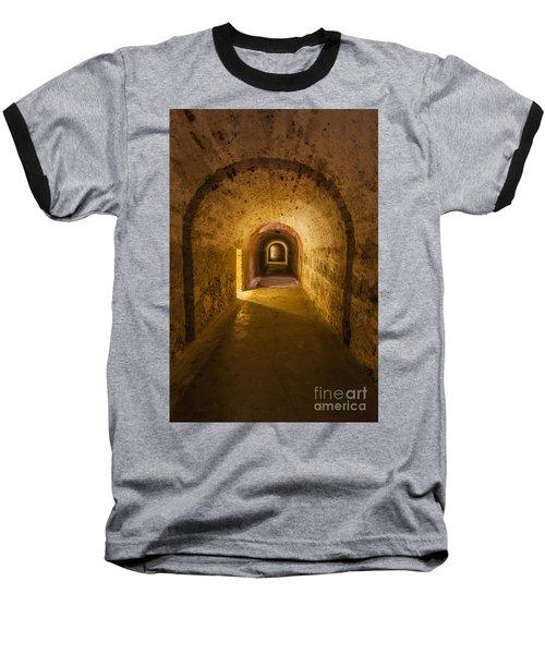 Dungeon At Castillo San Cristobal In Old San Juan Puerto Rico Baseball T-Shirt