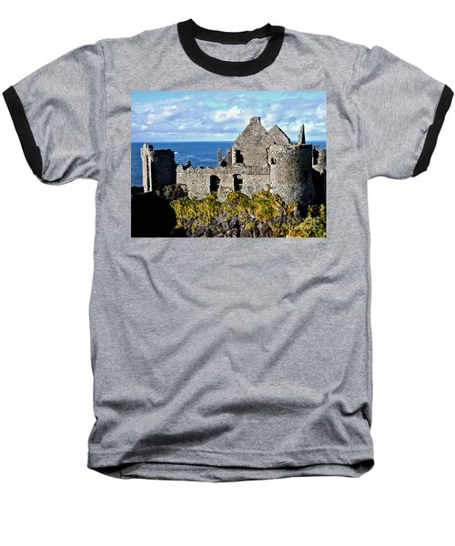 Dunluce Castle Baseball T-Shirt by Nina Ficur Feenan