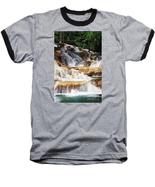 Dunn Falls Baseball T-Shirt by Hannes Cmarits
