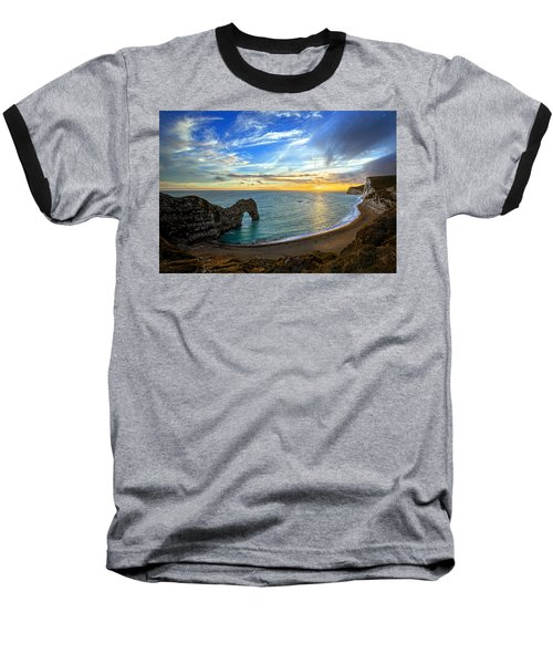 Durdle Door Sunset Baseball T-Shirt