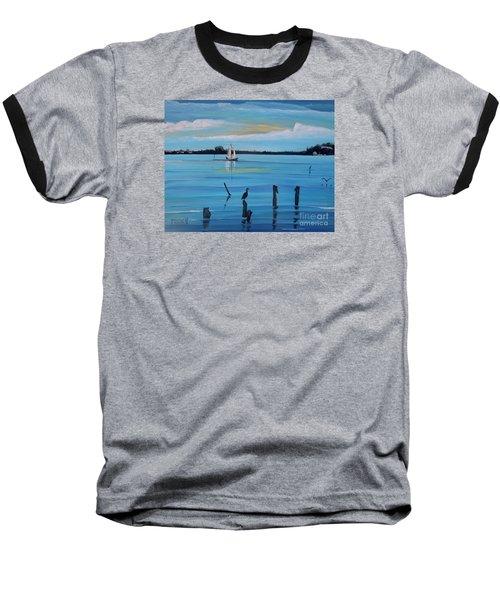 Dusk Approaching  Baseball T-Shirt by Marilyn  McNish
