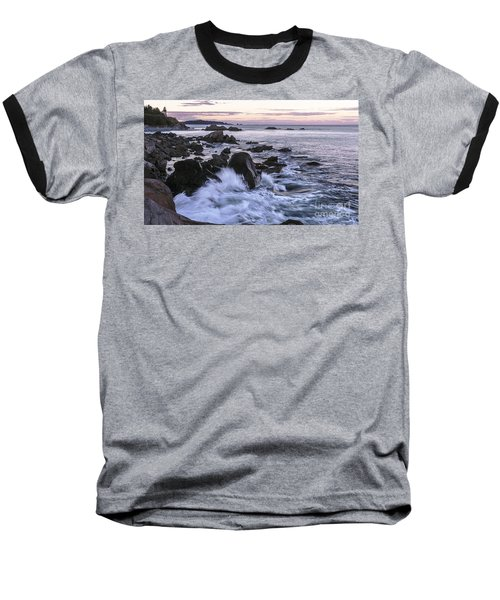 Dusk At West Quoddy Head Light Baseball T-Shirt