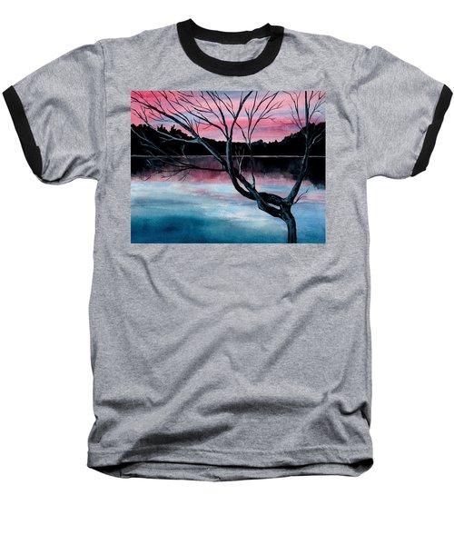 Dusk Lake Arrowhead Maine  Baseball T-Shirt