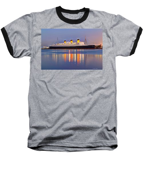 Dusk Light On The Queen Mary Baseball T-Shirt