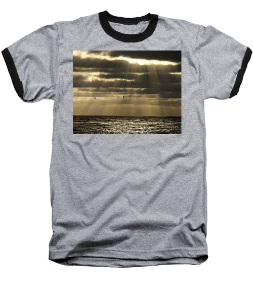 Dusk On Pacific Baseball T-Shirt