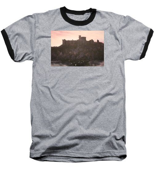 Baseball T-Shirt featuring the painting Dusk Over Windsor Castle by Jean Walker