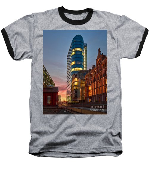 Dusseldorf Media Harbor Baseball T-Shirt
