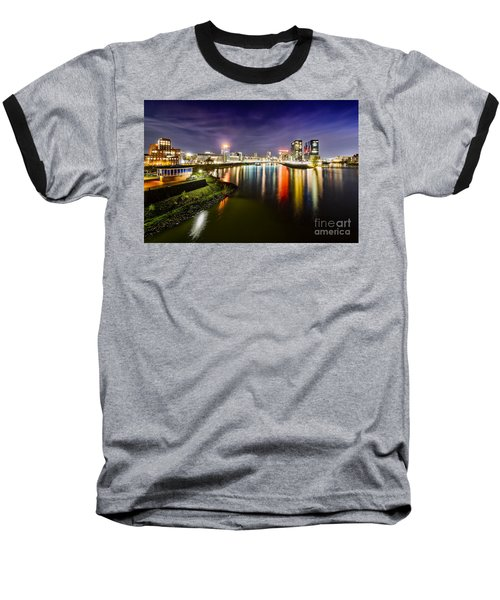 Dusseldorf Media Harbor Skyline Baseball T-Shirt
