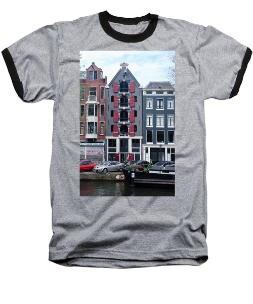 Dutch Canal House Baseball T-Shirt