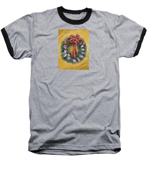 Duxbury Oyster Wreath Baseball T-Shirt