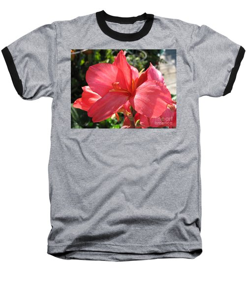 Baseball T-Shirt featuring the photograph Dwarf Canna Lily Named Shining Pink by J McCombie
