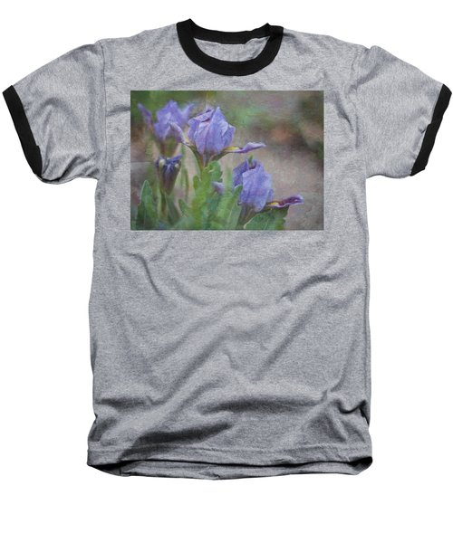 Baseball T-Shirt featuring the photograph Dwarf Iris With Texture by Patti Deters