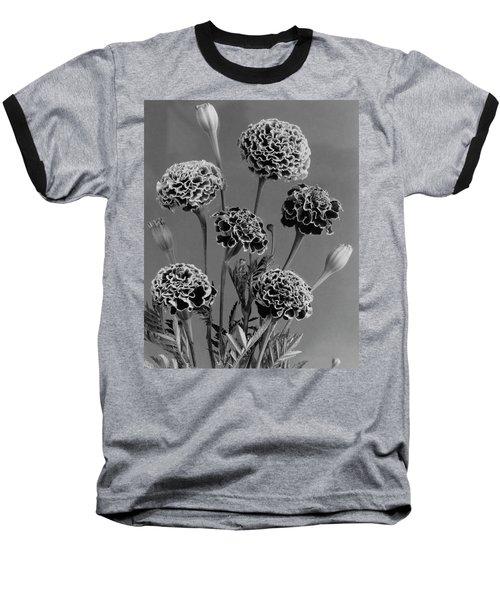 Dwarf Monarch Marigolds Baseball T-Shirt