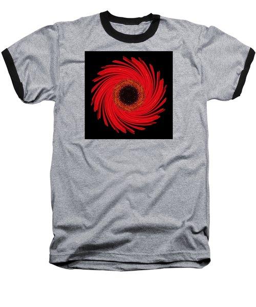 Dying Amaryllis Flower Mandala Baseball T-Shirt
