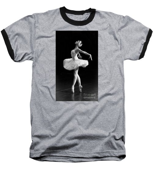 Dying Swan I. Baseball T-Shirt by Clare Bambers