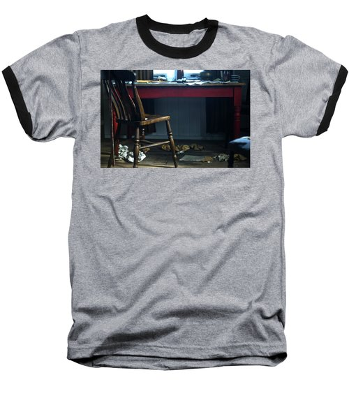 Dylan Thomas Writing Shed Baseball T-Shirt by Steve Purnell