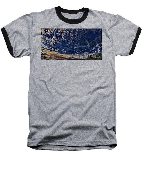 Dynamic Skyscape Baseball T-Shirt by Tom Culver