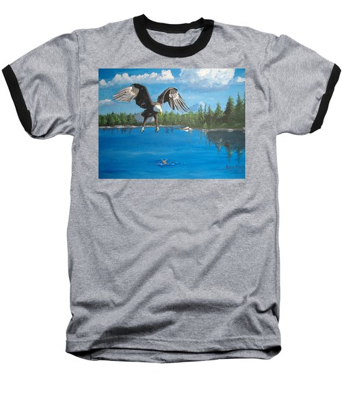 Eagle Attack Baseball T-Shirt by Norm Starks