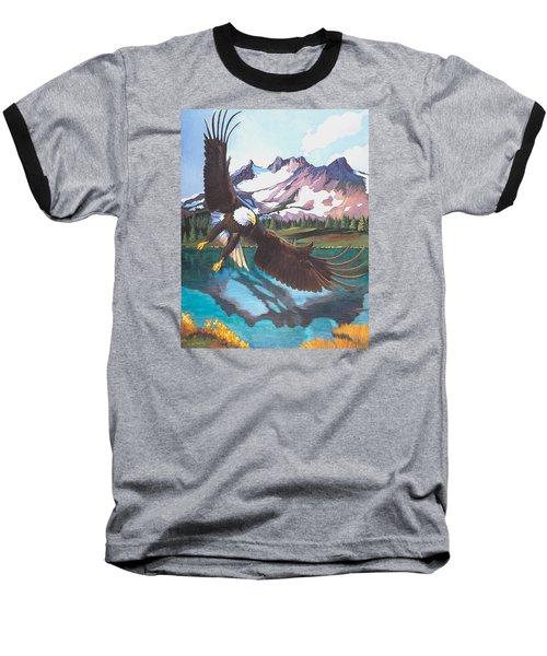 Eagle Oregon Lake Baseball T-Shirt