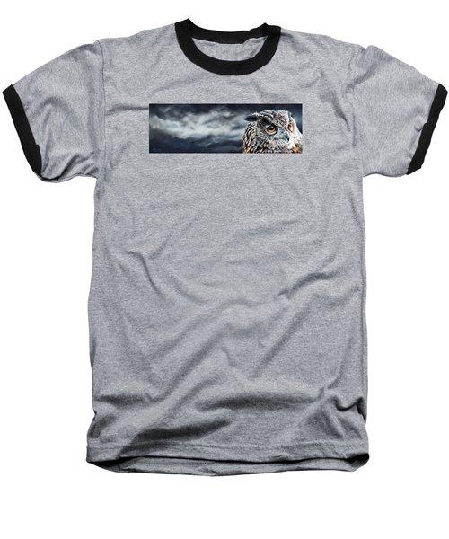 Eagle Owl Baseball T-Shirt