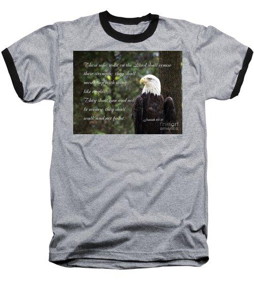 Eagle Scripture Isaiah Baseball T-Shirt