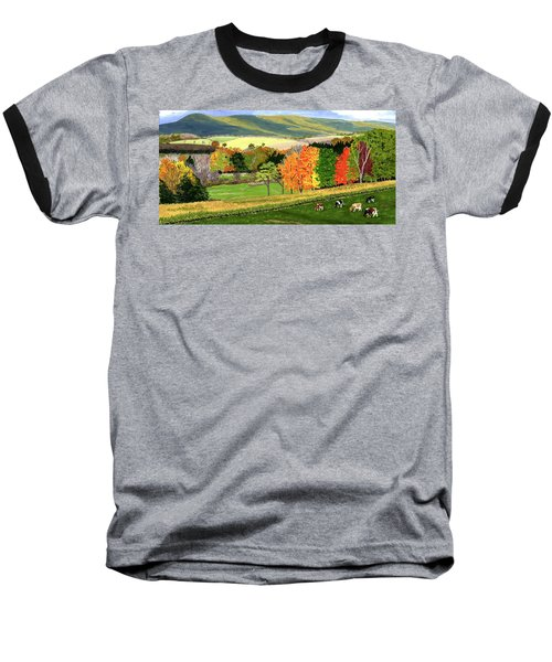 Early Autumn At Bear Meadows Farm Baseball T-Shirt