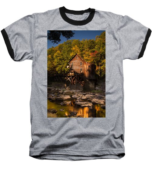 Early Autumn At Glade Creek Grist Mill Baseball T-Shirt