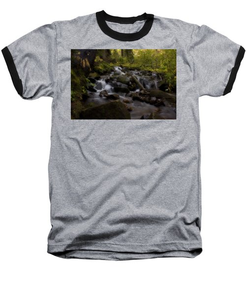 Baseball T-Shirt featuring the photograph Early Autumn Cascades by Ellen Heaverlo