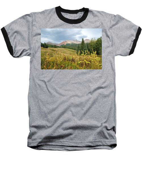 Early Autumn In The San Juans -  Mount Wilson And Wilson Peak Baseball T-Shirt