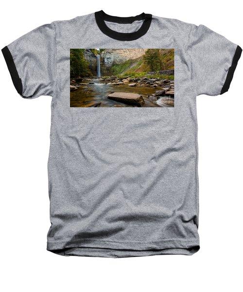 Early Autumn Morning At Taughannock Falls Baseball T-Shirt