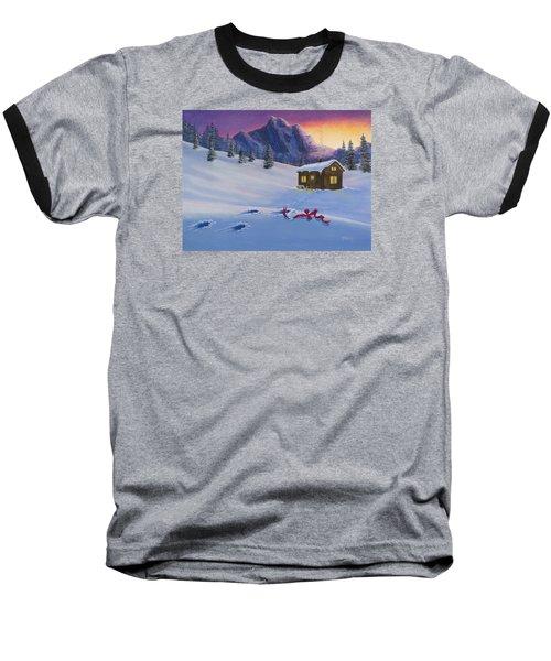 Early Christmas Morn Baseball T-Shirt