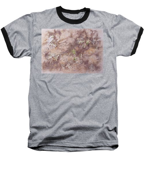 Baseball T-Shirt featuring the mixed media Early Fall by Michele Myers