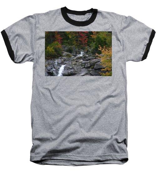 Early Fall Waterfall Baseball T-Shirt by Denyse Duhaime