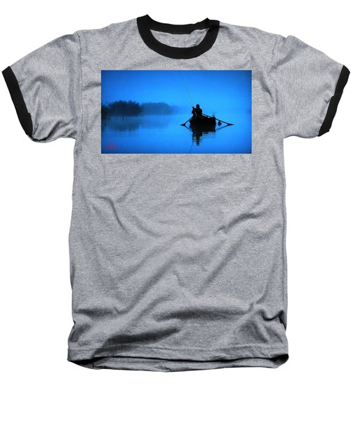 Early Morning Fishing  Baseball T-Shirt
