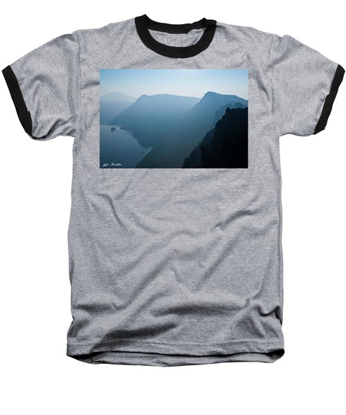 Baseball T-Shirt featuring the photograph Early Morning Fog Over Crater Lake by Jeff Goulden