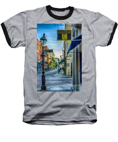 Early Morning In French Quarter Nola Baseball T-Shirt